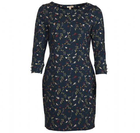 Barbour Siskin Dress - Navy -  LDR0192NY91